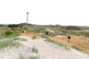 Lyngvig Fyr set fra stranden